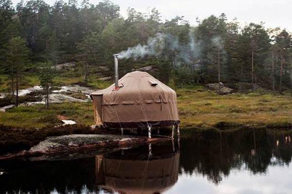 Acomodações inusitadas na região sul da Noruega